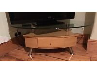 2 x Wood and glass coffee tables