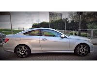 Mercedes Benz C Class Coupe 220 CDI Fully Loaded - Silver / Sky Blue