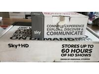 Sky hd box and router