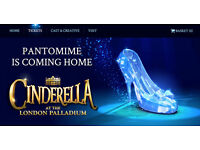 Cinderella London Palladium 4 tickets FACE VALUE Royal Cirle FRONT ROW