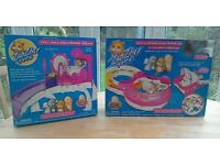 2 ZhuZhu Pets Sets with Jilly hamster & stroller