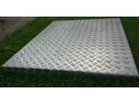 BARGAIN BUY - CHECKER PLATE WAS MADE FOR A TRAILER LID SIZES 50 INCHES LONG