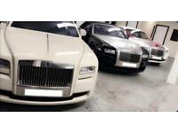 Wedding Car Hire, Chauffeur Driven Service, Rolls Royce Phantom Hire, Rolls Royce Ghost Hire.