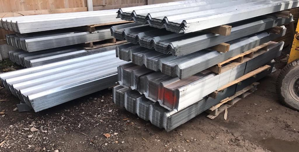 2.4M Galvanised Box Profile Roof Sheets ~ New
