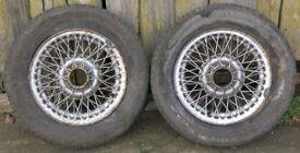 Lot 2 MGB GT 13-inch Wire Spoke Wheels