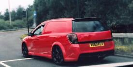 ASTRA VXR VAN SHOW VAN ONE OFF CUSTOMISED 300BHP NOT FULLY FORGED CORSA INSIGNIA OPEL RACING NURBURG