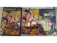 PlayStation 2 games Dragon ball, Ben 10 and Tomb Raider southall ub2