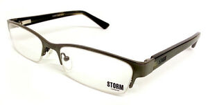 STORM London Designer Optical Frames Fashion Glasses GREY & GOLD 90ST100-1