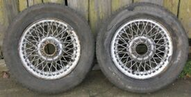 Lot 2 MGB GT 13-inch Wire Spoke Wheels