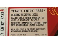 Reading Festival Early Bird Entrance Pass Ticket Entry