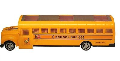 Bump And Go Action Yellow School Bus with Led Light and sound 11 inch KIDS TOY (Bump And Go)