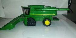 1/64 ertl custom John deere 9870 combine with head & smarttrax 2 tracks farm toy