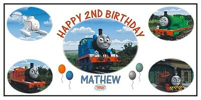 Personalized Thomas the Train Tank Engine and Friends Birthday Banner Free Ship - Thomas Birthday Banner
