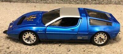 Eidai Grip Maserati Bora Blue 1/28 Scale Diecast Car Japan W/Box