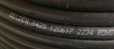10 Belden 8425 Multi-5 Conductmicrophonemusical Instrument Cable 20 Awg