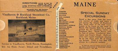 Vinalhaven & Rockland ME Steamboat Co. Mileage Directions Radio Stations
