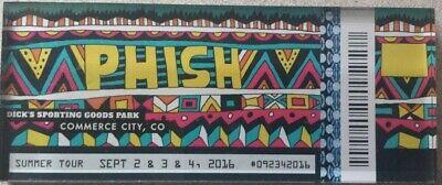 Phish Dicks Sporting Goods Park Commerce City CO Lucite Ticket Magnet 2016 Dicks Sporting Goods Park