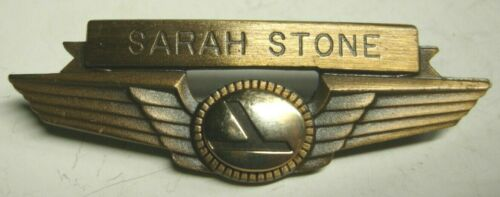 "70s Eastern Airlines Flight Attendant Wing ""Sarah Stone"" - Balfour Maker"