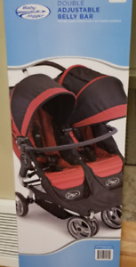 Barre ventrale double - Baby Jogger Double Belly Bar