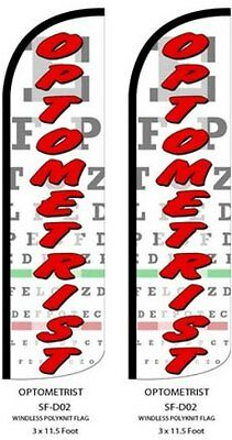 Optometrist Two 2 Swooper Feather Flag Kits With Hardware