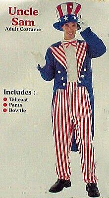 Uncle Sam Patriotic Costumes for Men or Women Jacket Pants Skirt Hat