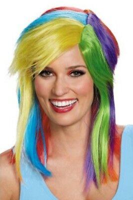 Rainbow Wig Adult Age 14+ My Little Pony Rainbow Dash Wig Dress-up Cos-play NWT - Rainbow Dash Adult