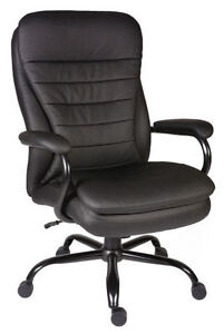 GOLIATH Heavy Duty 27 Stone Large Leather Executive Office Swivel Computer Ch