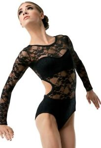 WEISSMAN LACE OPEN BACK LEOTARD