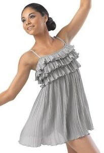 Tiered Pleated Ruffle Dress- Lyrical/Contemporary Costume