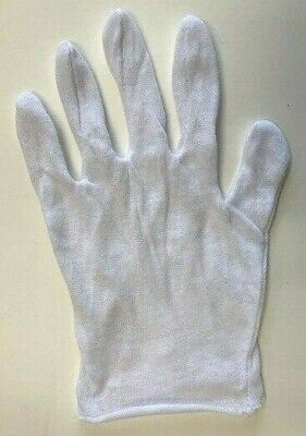 White Inspection Cotton Gloves Bag Of 12 Counts