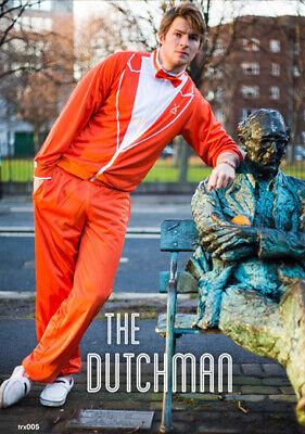 Men's The Dutchman Orange Tuxedo Tracksuit Size Small](Orange Tux)