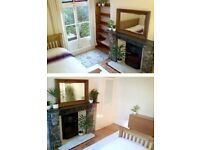 AVAILABLE NOW-Large room is clean quiet home for a short let. Next to tube,shops. Safe area.N2