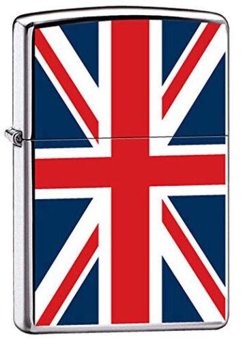 "British Pride Patriotic ""Union Jack"" Flag of United Kingdom Chrome Zippo Lighter"