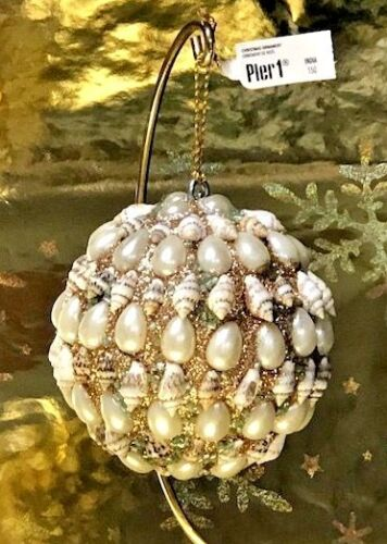 Pier 1 Seashell Ball Christmas Ornament