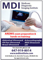 !ULTRASOUND HANDS-ON TRAINING AND ARDMS PREP. IN TORONTO! 50%OFF