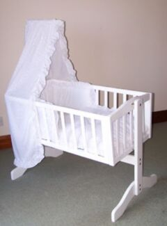 WOODEN BABY CRADLE Woodville Charles Sturt Area Preview