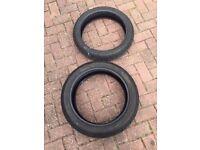 R6 tyres (also GSXR, NINJA, CBR600) (part worn)