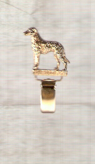 Deerhound Gold Plated Ring Clip Pin Jewelry*