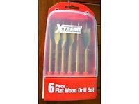 Xtreme 6 Piece Flat Wood Drill Set