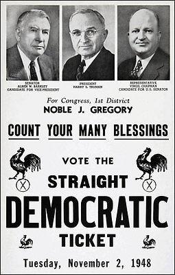 Harry Truman Campaign Poster 11x17  Repro 1948 Kentucky