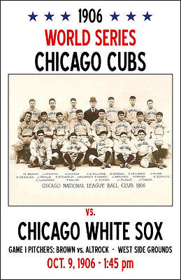 1906 World Series Poster - Cubs vs. White Sox