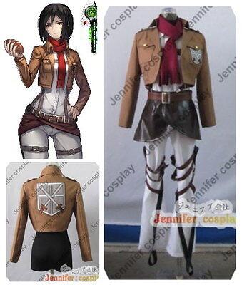 Attack on Titan Mikasa Ackerman Cosplay Costume Full Set](Attack On Titan Mikasa Costume)