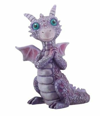 Mythical Pink and Purple Happy Baby Dragon Fantasy Figurine