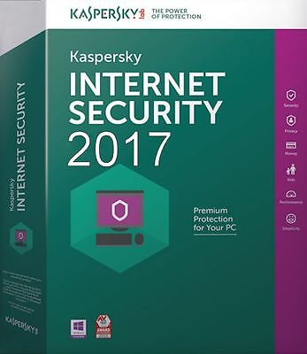 KASPERSKY INTERNET SECURITY 2018 -2017 1 PC / 1 YEAR Big Sale Off $6.4 Buy Today for sale  Shipping to South Africa