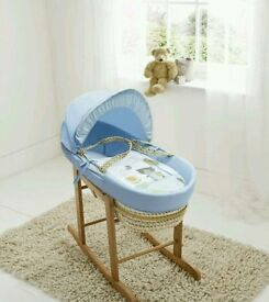 Kinder valley Tiny Ted Plam moses basket. Bule. Brand new in sealed packs 3 left in stock only