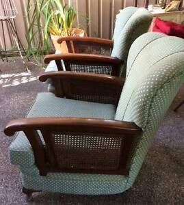 ARMCHAIRS GREAT CONDITION VERY COMFORTABLE WITH RATTAN ON SIDES Beverley Park Kogarah Area Preview