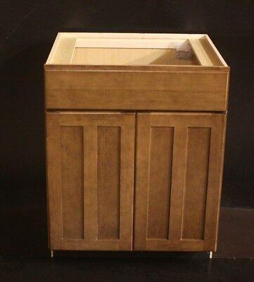 Maple Cognac (Kraftmad Cognac Maple Kitchen OR Bathroom Vanity Sink Base Cabinet 27