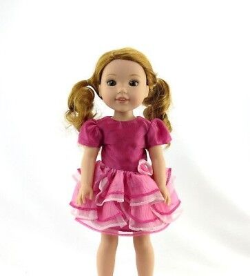 Pink Layered Dress Fits Wellie Wishers 14.5