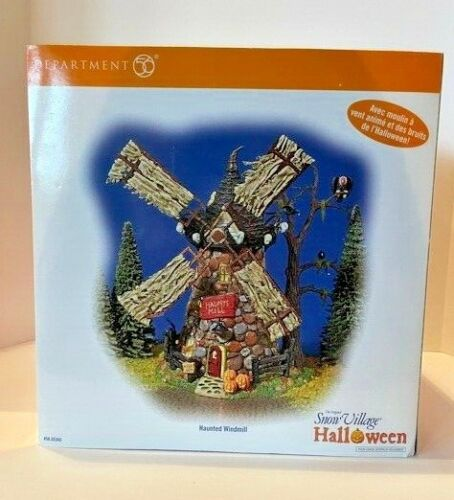 MIB Department 56 Snow Village Halloween Haunted Windmill Only Opened for Photos