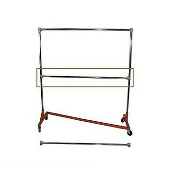 Add on Hang Rail ONLY for Heavy Duty Rolling Z Rack Clothing Garment Clothes